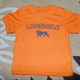 Яркая оранжевая футболка Lonsdale 18-24мес.