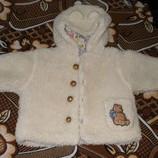 Белая шубка на 1-2 годика
