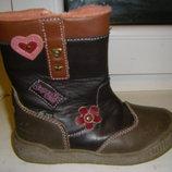 Кожаные ботинки CAT недорого, красивенькие замшевые демисапожки 17 -19 см