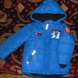 Новая осенне-зимняя теплая куртка Тополино на рост 92-98 и 116-122
