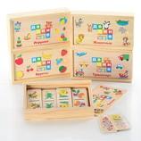 Развивающая деревянная игра домино много видов .