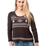 Новый свитер с совами коричневый Fresh Made Германия 50-52р