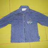 Disneyland джинсовая рубашка на мальчика 2 лет б/у