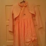 Праздничное платье с болеро 116-122 размер