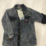 Джинсовые Рубашки для девочек 6-9 лет