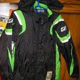 Деми куртка и ветровка-дождевик защитная на мальчика 134-140