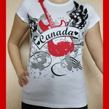 Футболка майка Place бренд женская принты размер 48 XL Новая