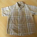 рубашка летняя Arizona на мальчика 3-4 лет б/у