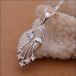 Шикарная Подвеска Комета 925 серебро с фианитами
