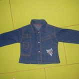 джинсовая пиджак рубашка на девочку 1,5 -2,5 лет