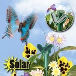 летающая бабочка на солнечной батареи