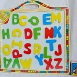 Деревянная игрушка Досточка с магнитными английским алфавитом