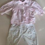 Комплект нарядный Mignolo штаны рубашка бриджи 9-12 мес