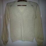 Пуловер,кофта,джемпер,свитер,гольф шерстяной ручной работы размер 50, б/у