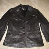 Стильний брендовий шкіряний піджак Laura Ashley Італія Оригінал р.10 або 36