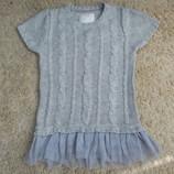 Платье вязаное девочке 5-6 лет рост 116 см