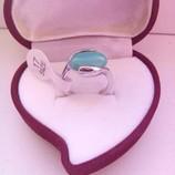 Оригинальное кольцо с бирюзой