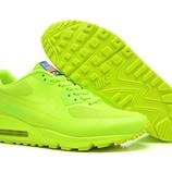 Женские кроссовки Nike Air Max 90 Hyperfuse - салатовые pluse