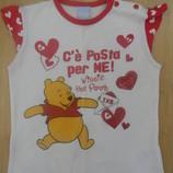 футболка Disney на девочку 2 лет б/у