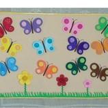 Развивающий коврик Бабочки .Обучение цветам и оттенкам.Ручная работа.