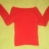 Продам красный ажурный свитерок