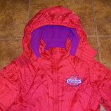 Красное пальто, теплая осенне-зимняя куртка на девочку 7-8 лет, рост 128-140 см