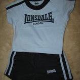 Літній стильний брендовий костюмчик Tonsdale Франція Оригінал на вік 3-6 міс. подарунок.