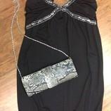маленькое черное платье c пайетками французский бренд новое