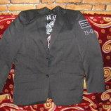 Необыкновенный пиджак С&а на мальчика, брюки, р.128-152, костюм-тройка плотному мальчику р140-146