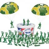 Стойкие зеленые солдатики ведро из мф История игрушек