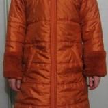 Демисезонное красивое пальто на девочку 10 лет