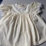 Платье сарафан желтое летнее на 6-12 месяцев
