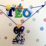 Именная гирлянда для ребенка из фетра, игрушки из фетра