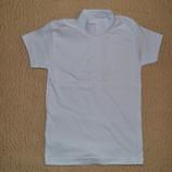 Белые футболки из интерлока с белой вышивкой в наличии