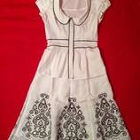 Элегантный летний костюм Next XS/S. Юбка блузка. Женский, летний.