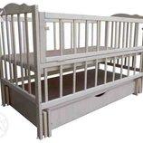 Детская кроватка Еко-4, Новые, маятник ящик опускной бок,1200 грн