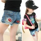 Джинсовые летние шорты для девочек в наличии