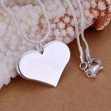 Комплект Сердце Подвеска Цепочка В Серебре