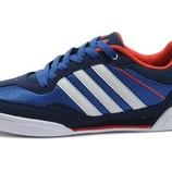 Кроссовки Adidas Rubber Master - сине-белые голубой