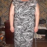 Сток Трикотажное платье Next с принтом зебры наш 48-52