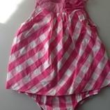 Платье-бодик-песочник в квадраты малиновый Carter's 24 мес