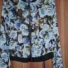 стильная итальянская курточка -бомбер шифоновая