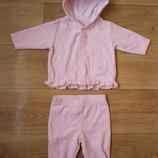 Велюровый костюм next нежно розового цвета 0- 3 мес на девочку