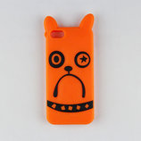 Чехол для Iphone 5 5s SE оранжевый бульдог