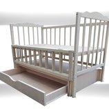 Кровать детская Новые Белая ящик шарнир