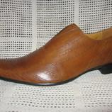 Туфли летние TA CK натур. кожа р. 40-45 светло-коричневые мод.02-4