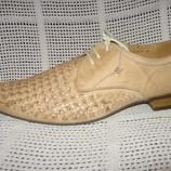 Туфли летние L.CHERRUNI натур. кожа р. 45-44 мод.106