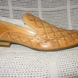 Туфли летние EGO натур. кожа р. 40-42 светлые