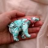 Маленький медвежонок, мишка, ведмедь коллекционный ручная работа игрушка кукле