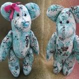 Мишки, ведмедь ,тедди ручной работы